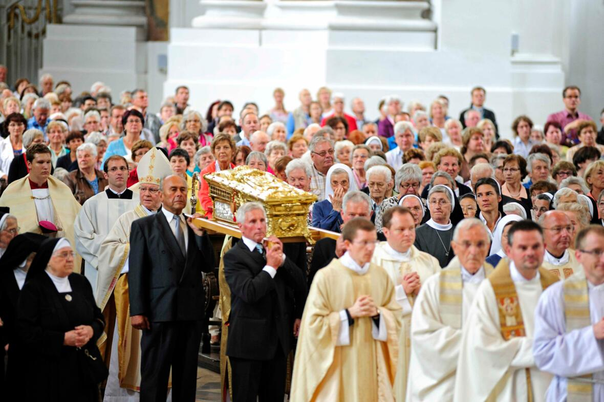 Der heilige Ulrich zu Gast in Ottobeuren. (Foto: pba/Nicolas Schnall)