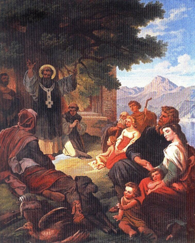 Der Heilige Bonifatius Fresko des Frh. v. Pechmann, 1866