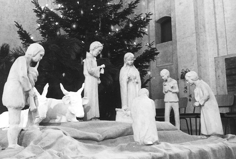 1973_Weihnachtskrippe_1991_mit Ox_Esel