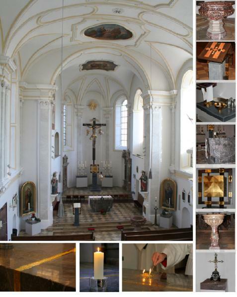 Details der Pfarrkirche Hlgst. Dreifaltigkeit in Niederraunau