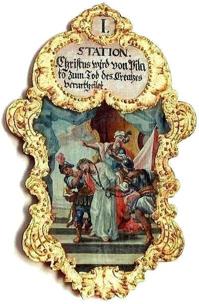 1. Christus wird von Pilato zum Tod des Creutzes verurtheilet,   Foto: Schumacher