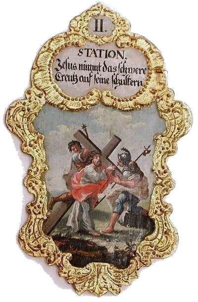 2. Jesus nimmt das schwere Creutz auf seine Schultern,  Foto Schumacher