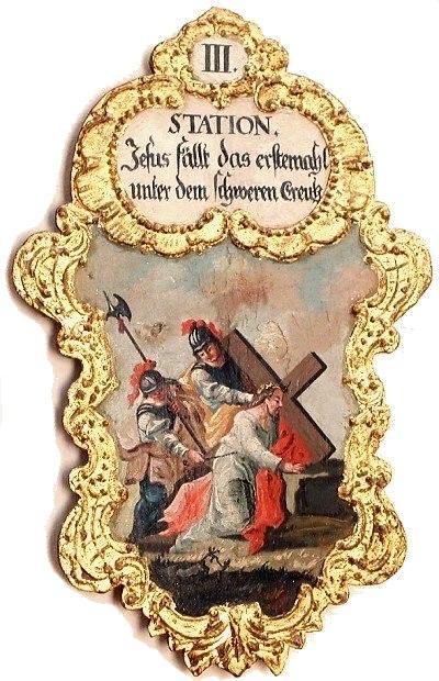3. Jesus fällt das erstemal unter dem schweren Creutz, Foto Schumacher