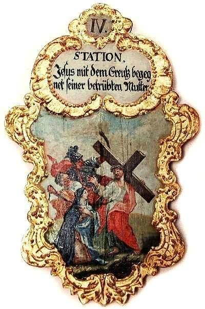 4. Jesus mit dem Creutz begegnet seiner betrübten Mutter, Foto Schumacher
