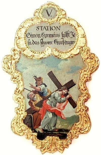 5. Simon Cyrenius hilft  Jesus das schwere Creutz tragen, Foto: Schumacher