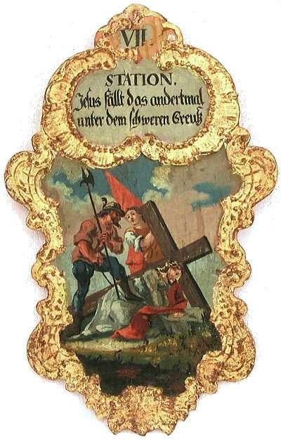 7. Jesus fällt das andertmal unter dem schweren Creutz, Foto: Schumacher