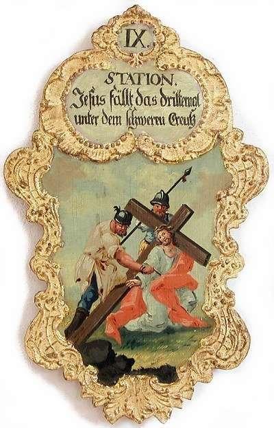 9. Jesus fällt das drittemal unter dem schweren Creutz, Foto: Schumacher