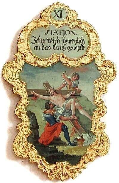11. Jesus wird schmerzlich an das Creutz genagelt, Foto: Schumacher