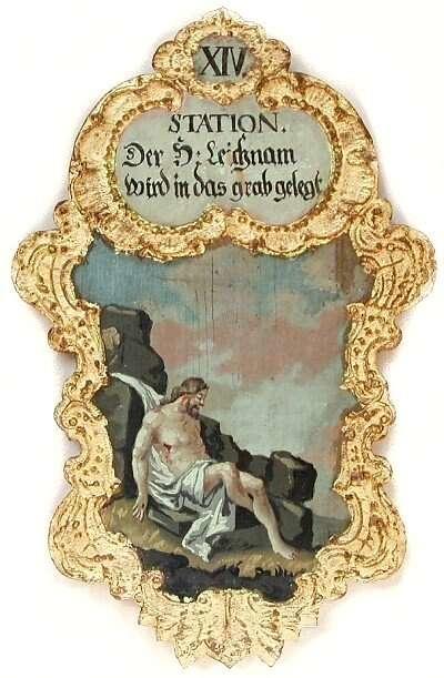 14. Der H. Leichnam wird in das Grab gelegt, Foto: Schumacher