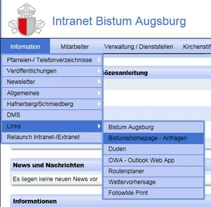 Applikation Intranet