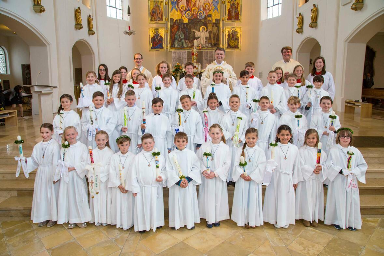 Erstkommunionkinder am Samstag - 18.04.2015