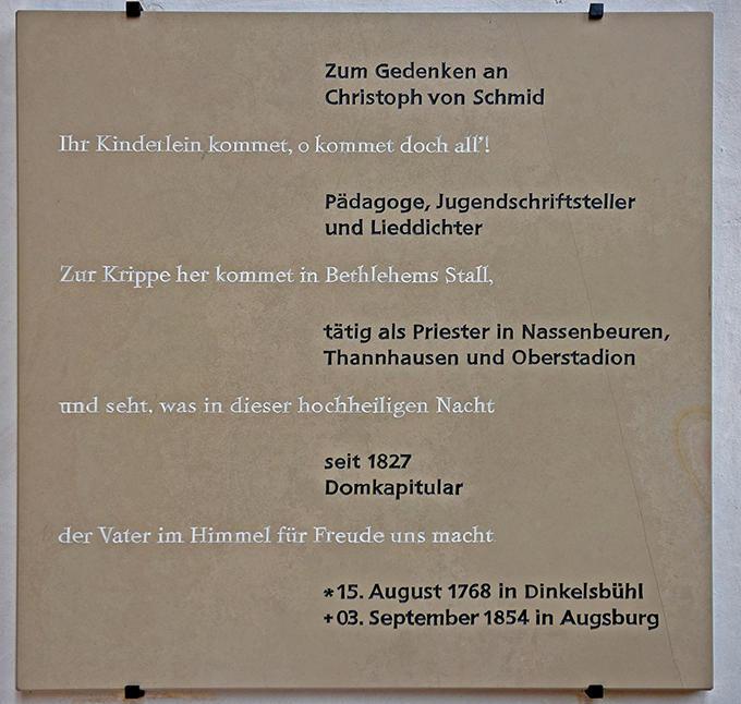 Gedenktafel im Augsburger Dom. (Foto: Simone Zwikirsch / pba)