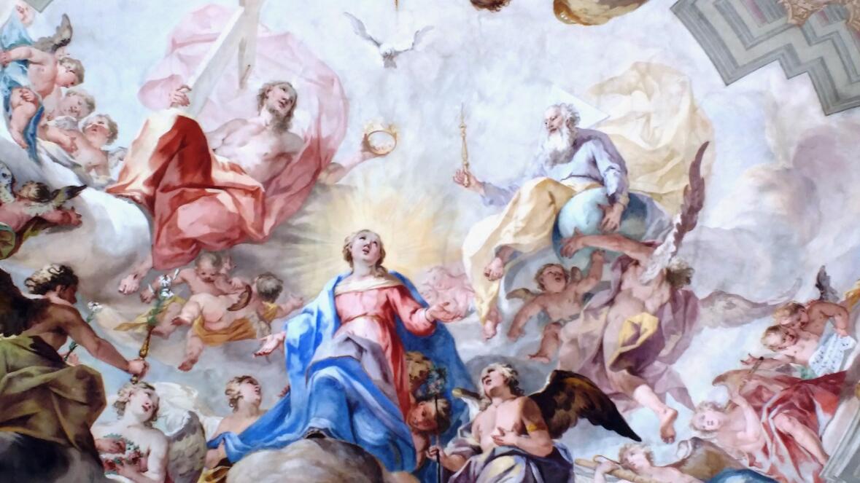 Deckengemälde von Matthäus Günther im Chorraum von Maria Aich in Peißenberg