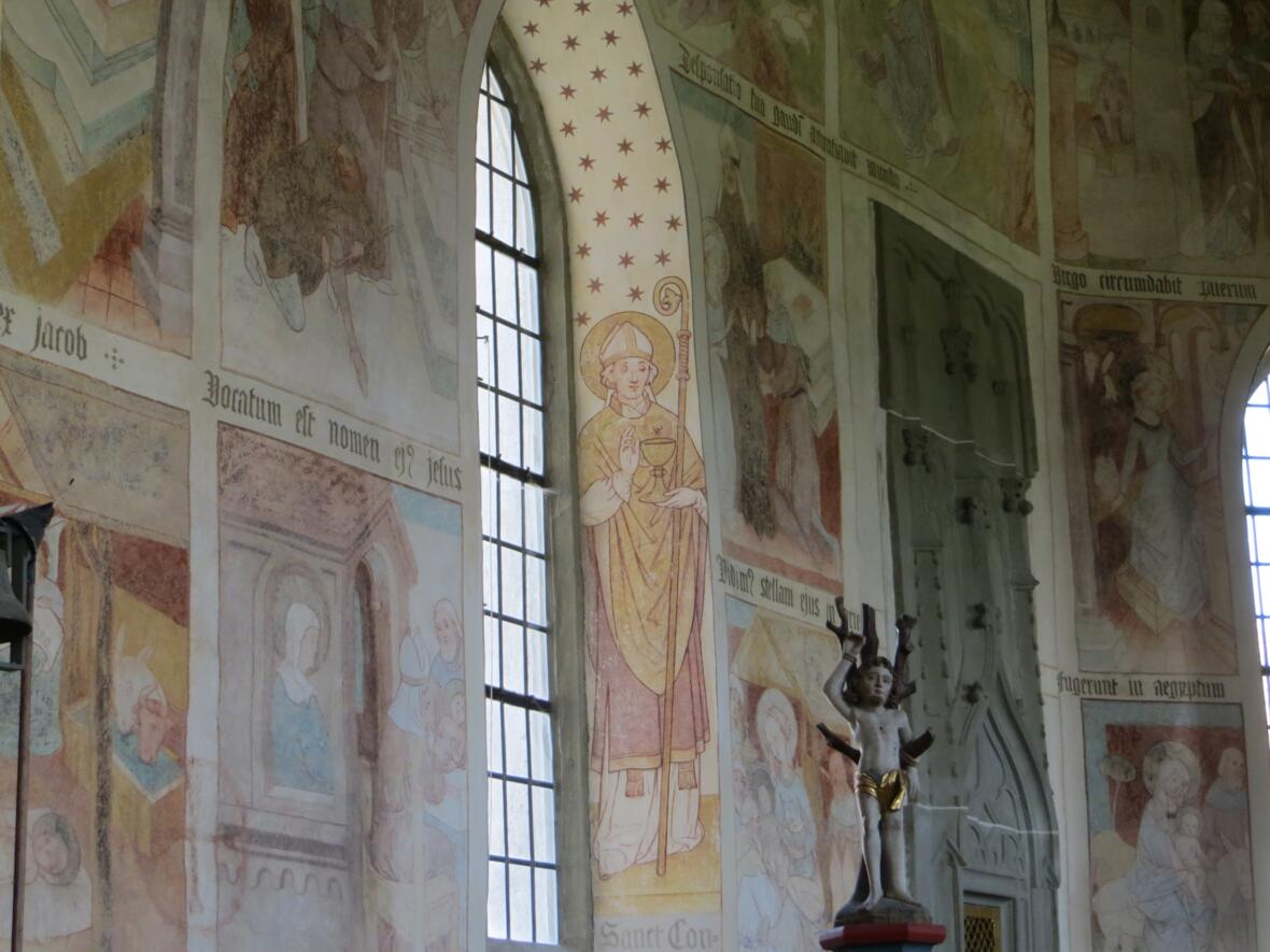 Kapelle St. Bartholomäus Zell, Wandmalerei