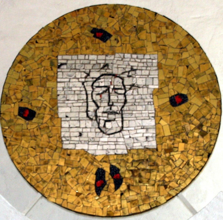 Mosaikbild über dem Altar