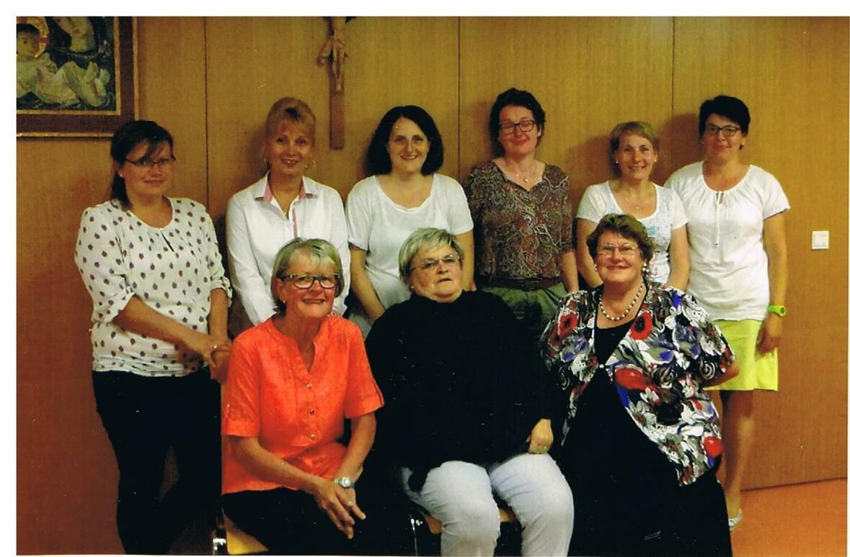 neues Team 2016 Frauenbund Oberstaufen