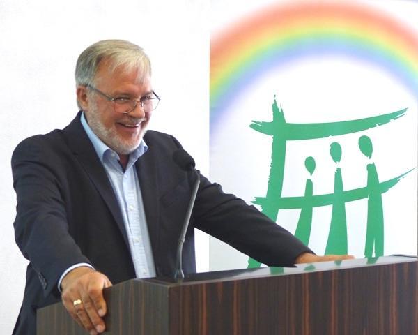 Jürgen Liminski bei seinem Vortrag (Foto: Beate Dieterle)
