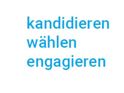 PGR-Wahl Motto in Schrift