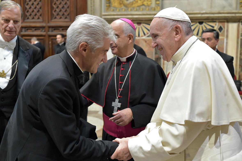 Bei der Papstaudienz: Georg Alois Oblinger, Rektor der Gebetsstätte Marienfried. (Foto: privat)