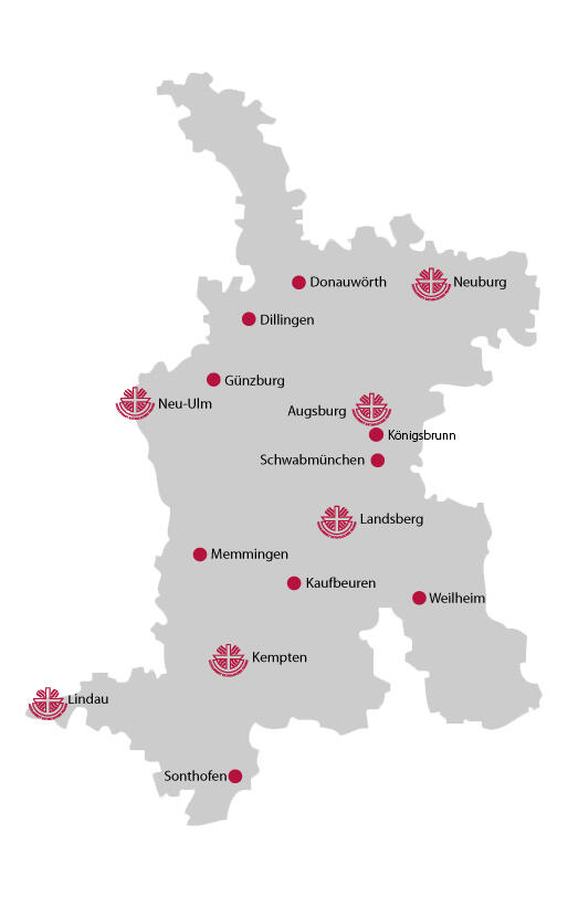 SkF Karte Beratungsstellen