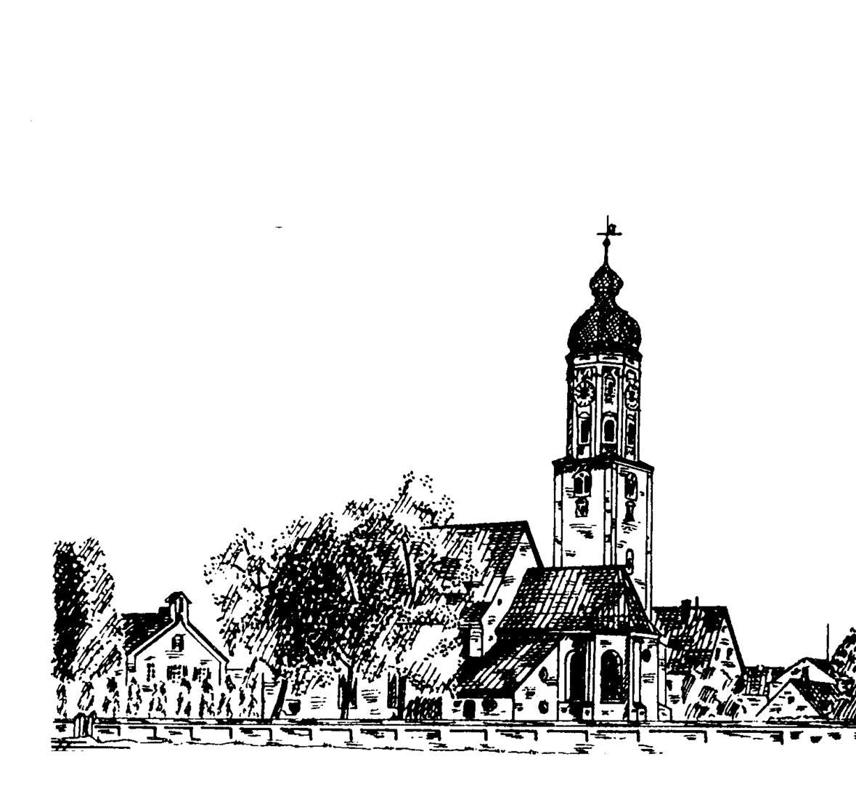 St. Martin Tuschezeichnung