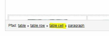 Table cell responsive