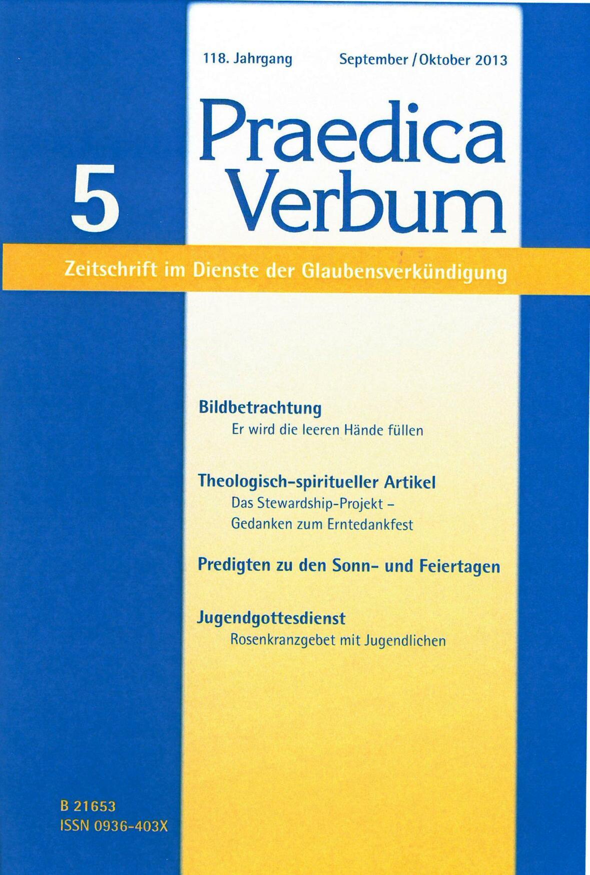 Umschlag Praedica Verbum