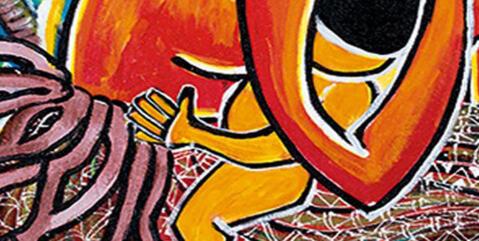Bild: Gemälde der Künstlerin Juliette Pita, offizielles WGT Titelbild 2021