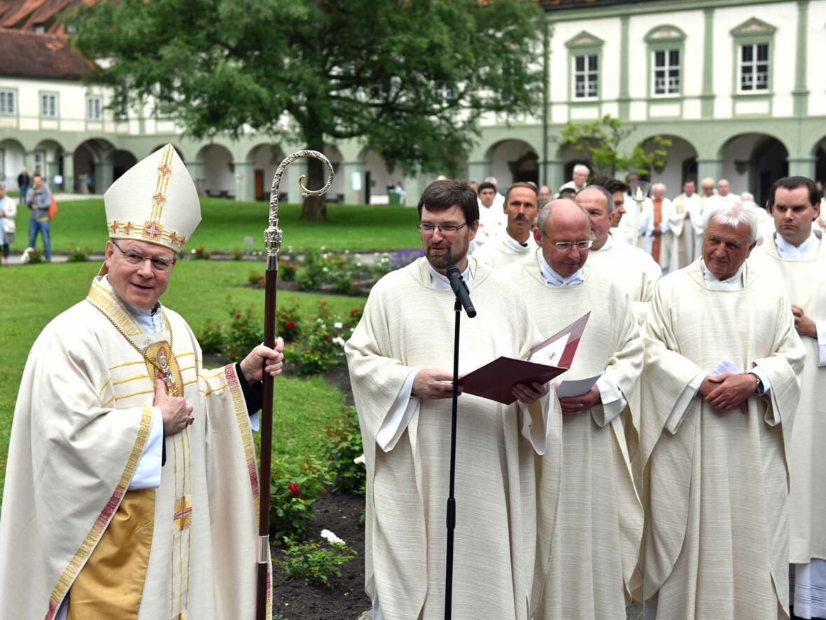 Ulrichswoche 2016: Bischof Konrad begleitete den heiligen Ulrich nach Benediktbeuern. (Foto: pba / Nicolas Schnall)