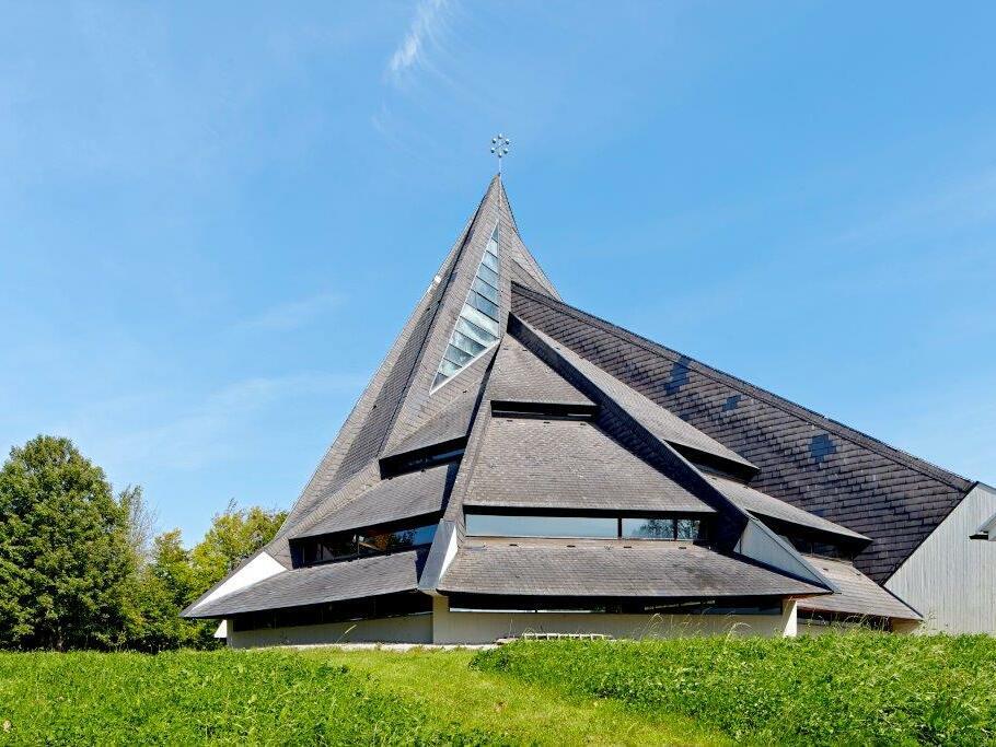 Maria am Wege, Windach, (Bauzeit: 1966-1971), Architekt: Josef Wiedemann (Foto: Siegfried Wameser)