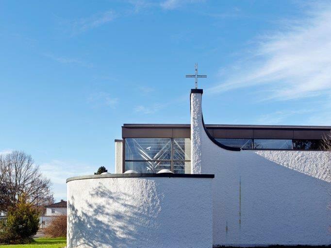 Zum Heiligen Geist, Günzburg (1969-1973), Architekt: Hermann Öttl (Foto: Siegfried Wameser)