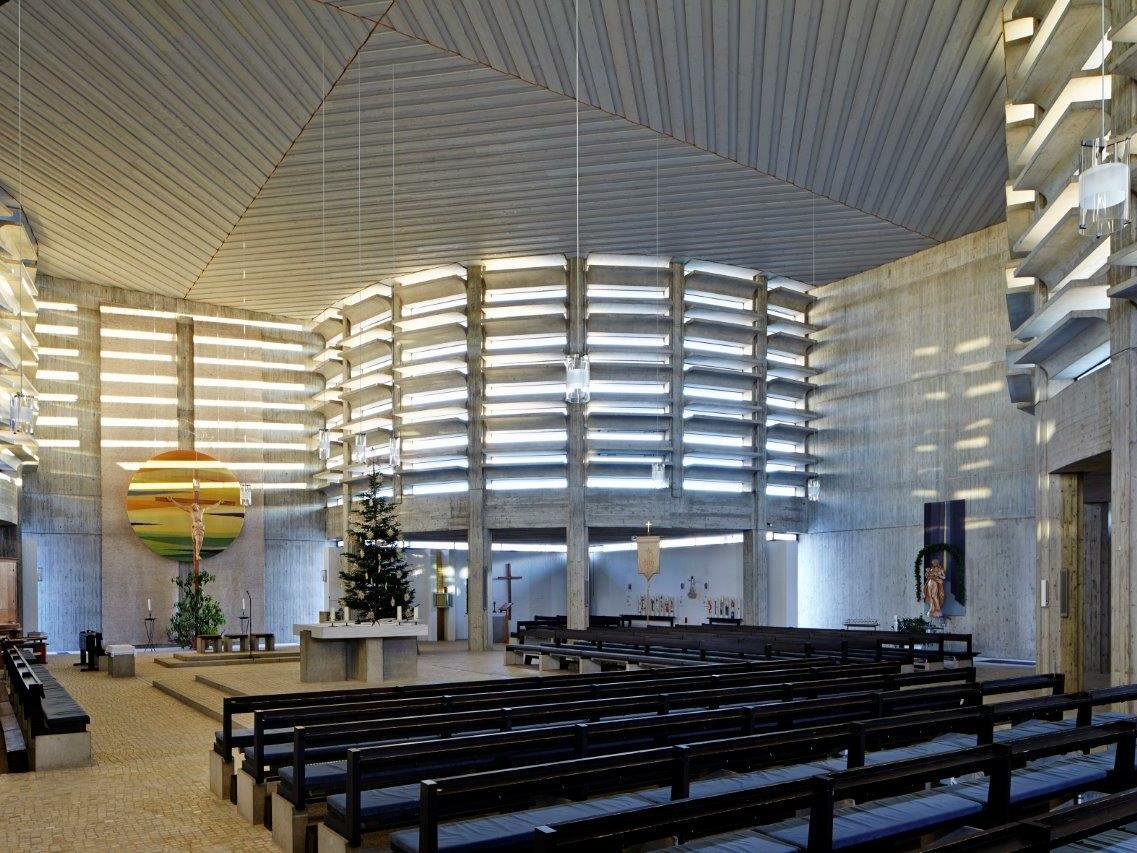 Zur Heiligen Familie, Bobingen, Architekt: Robert Gerum (1966-1968) (Foto: Siegfried Wameser)
