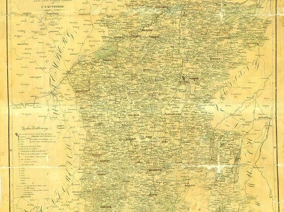 Bei der kirchlichen Neuordnung durch das Bayerische Konkordat von 1817/21 bestand das Bistum Augsburg fort. Die württembergischen Anteile (86 Pfarreien in den Landkapiteln Ellwangen, Gmünd und Neresheim) und die Bistumsgebiete in Tirol und Vorarlberg (12 Pfarreien) gingen verloren. Dafür erhielt das neue bayerische Landesbistum Gebiete links der oberen Iller aus dem untergegangenen Bistum Konstanz (65 Pfarreien in den Landkapiteln Lindau, Weiler, Stiefenhofen und Legau). Bistumskarte 1839, Topographische Karte Schwaben und Neuburg und der Dioeces Augsburg, Placidus Braun, nach der inneren Verfassung ausgearbeitet von F. X. Kusterer.