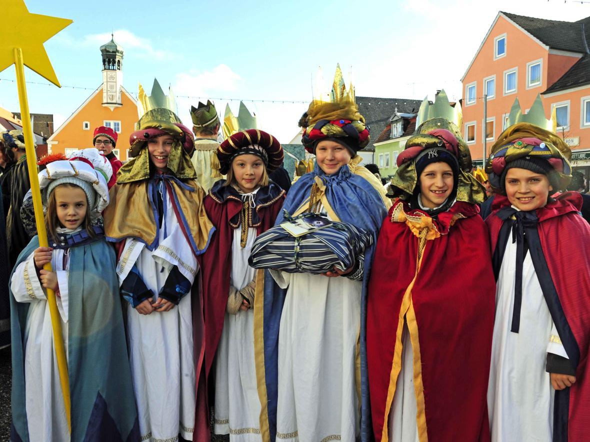 Singen, Sammeln, Segnen: Sternsingeraktion 2014 (Dezember) (Foto: Maria Steber)