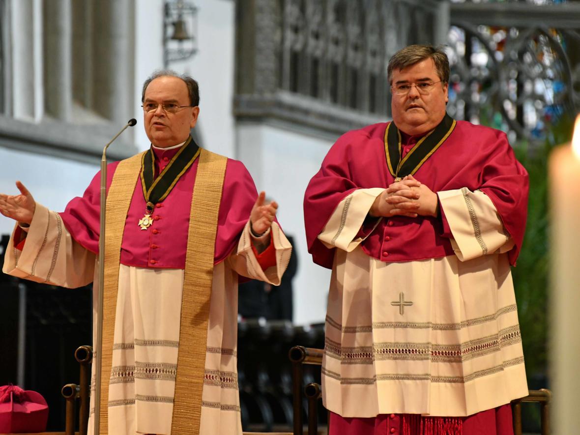 05 Bekanntgabe neuer Bischof von Augsburg_Mittagsgebet im Hohen Dom (Foto Nicolas Schnall_pba)