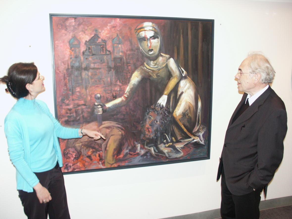 2005: Besuch im Diözesanmuseum (Foto: Archiv)
