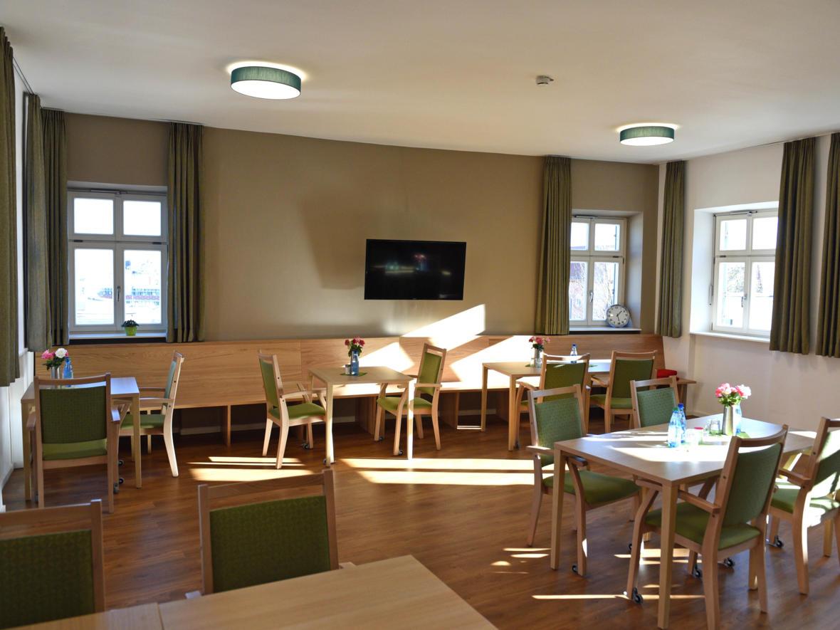 Cafeteria im Seniorenheim St. Afra (Foto: Nicolas Schnall / pba)