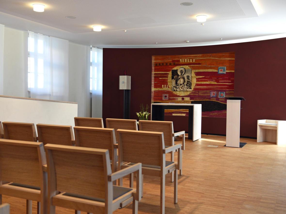 Kapelle im Seniorenheim St. Afra (Foto: Nicolas Schnall / pba)