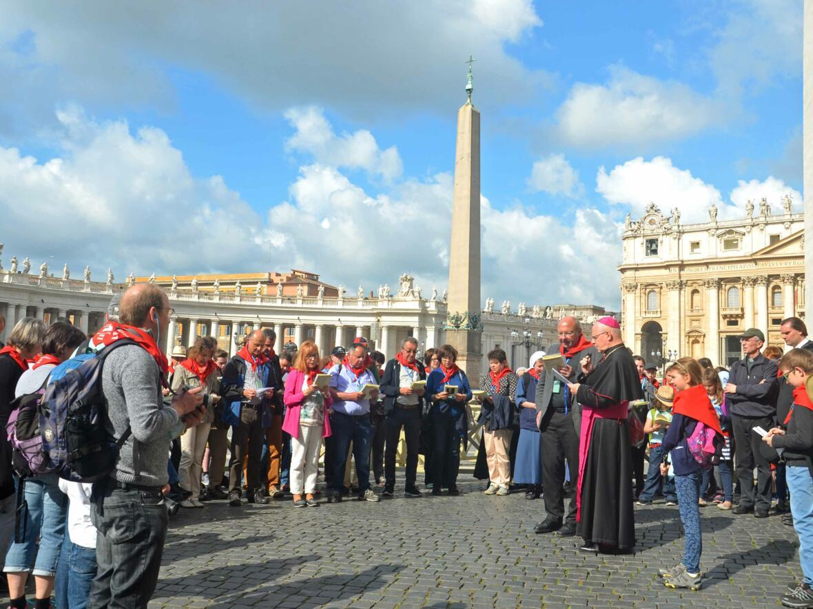 Diözesane Rom-Wallfahrt mit Bischof Konrad im Heiligen Jahr der Barmherzigkeit. (Foto: privat)