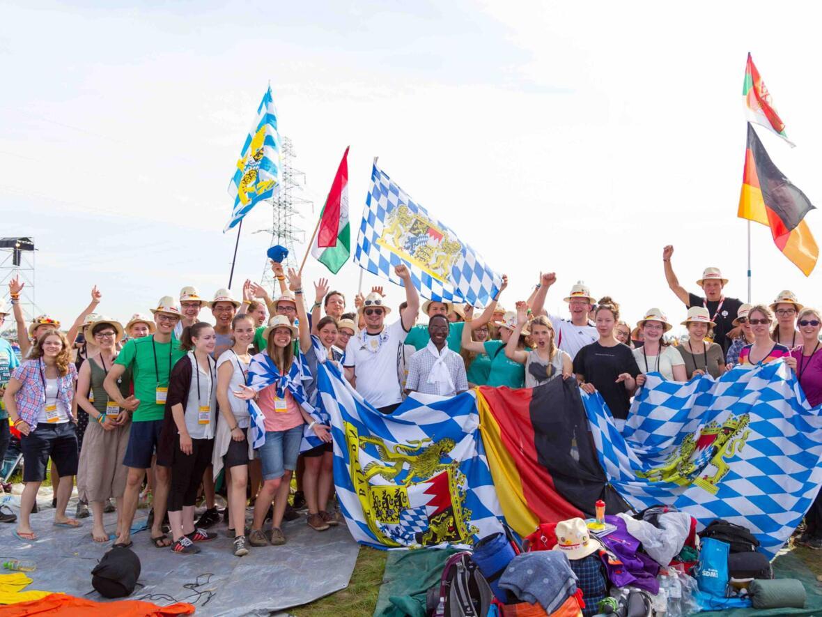 Eine Gruppe Augsburger Weltjugendtagspilger in Polen. (Foto: Joshua Golde)