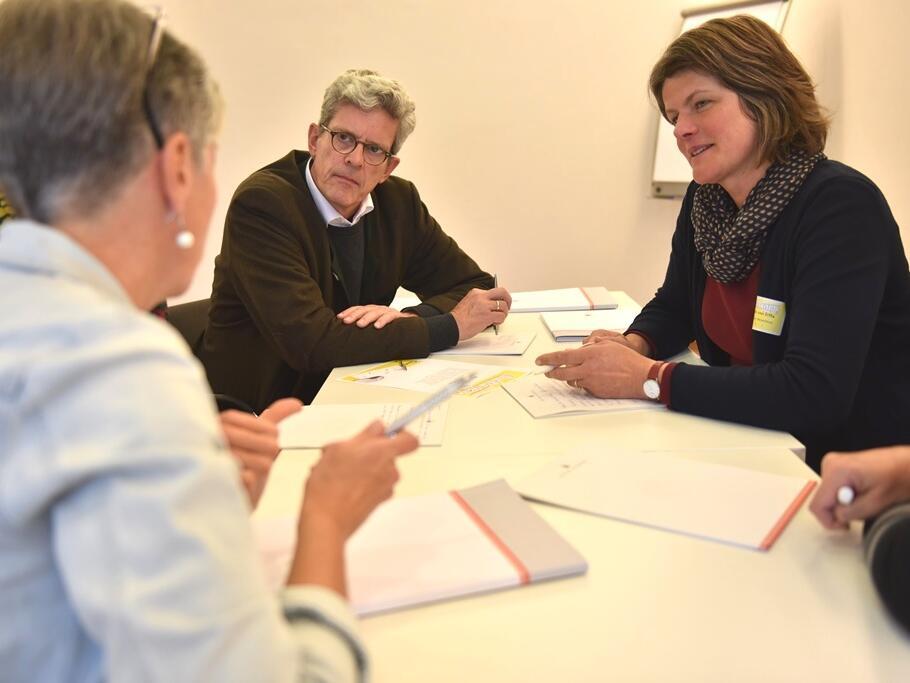 Workshop beim 1. Medientag im Bistum Augsburg. (Foto: Maria Steber / pba)