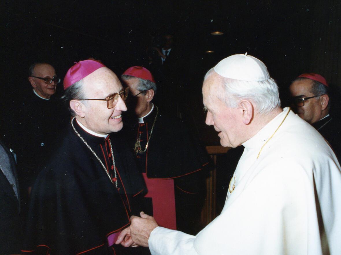 1989: Treffen mit Papst Johannes Paul II. (Foto: Privat)