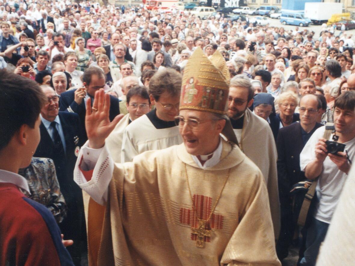 28. Mai 1995: Einführung in das Erzbistum Bamberg (Foto: Pressestelle Erzbistum Bamberg / Bärbel Meister)