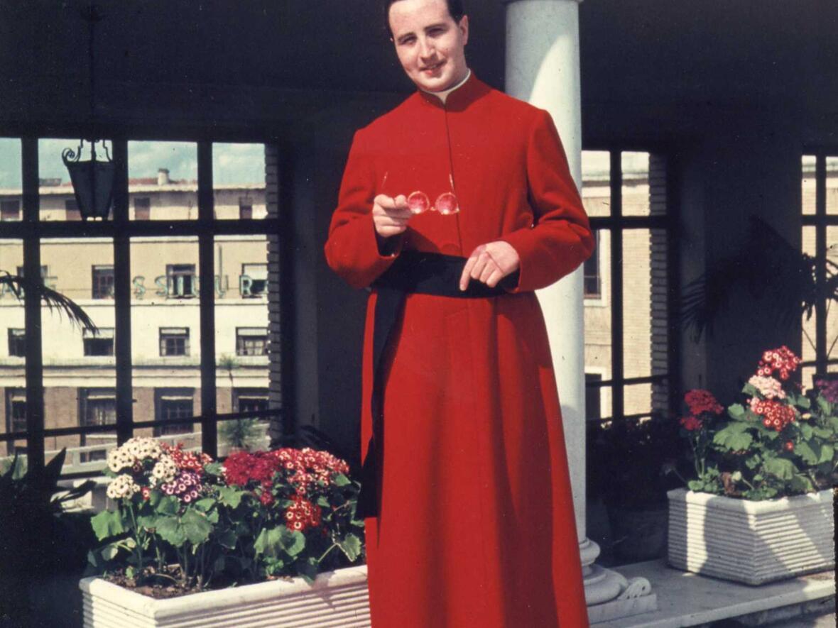 Als Student im Päpstlichen Kolleg Germanicum et Hungaricum in Rom (Foto: Privat)