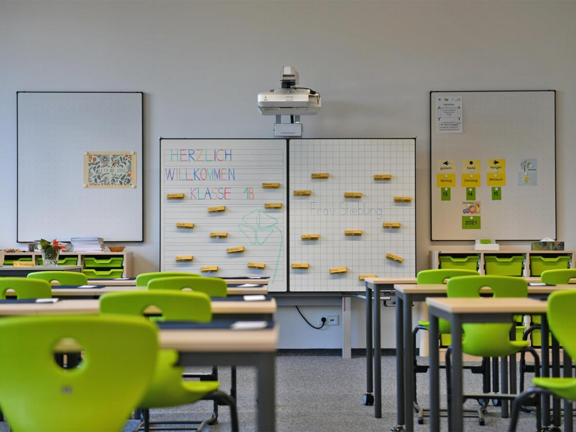 Klassenraum der Bischof-Ulrich-Grundschule