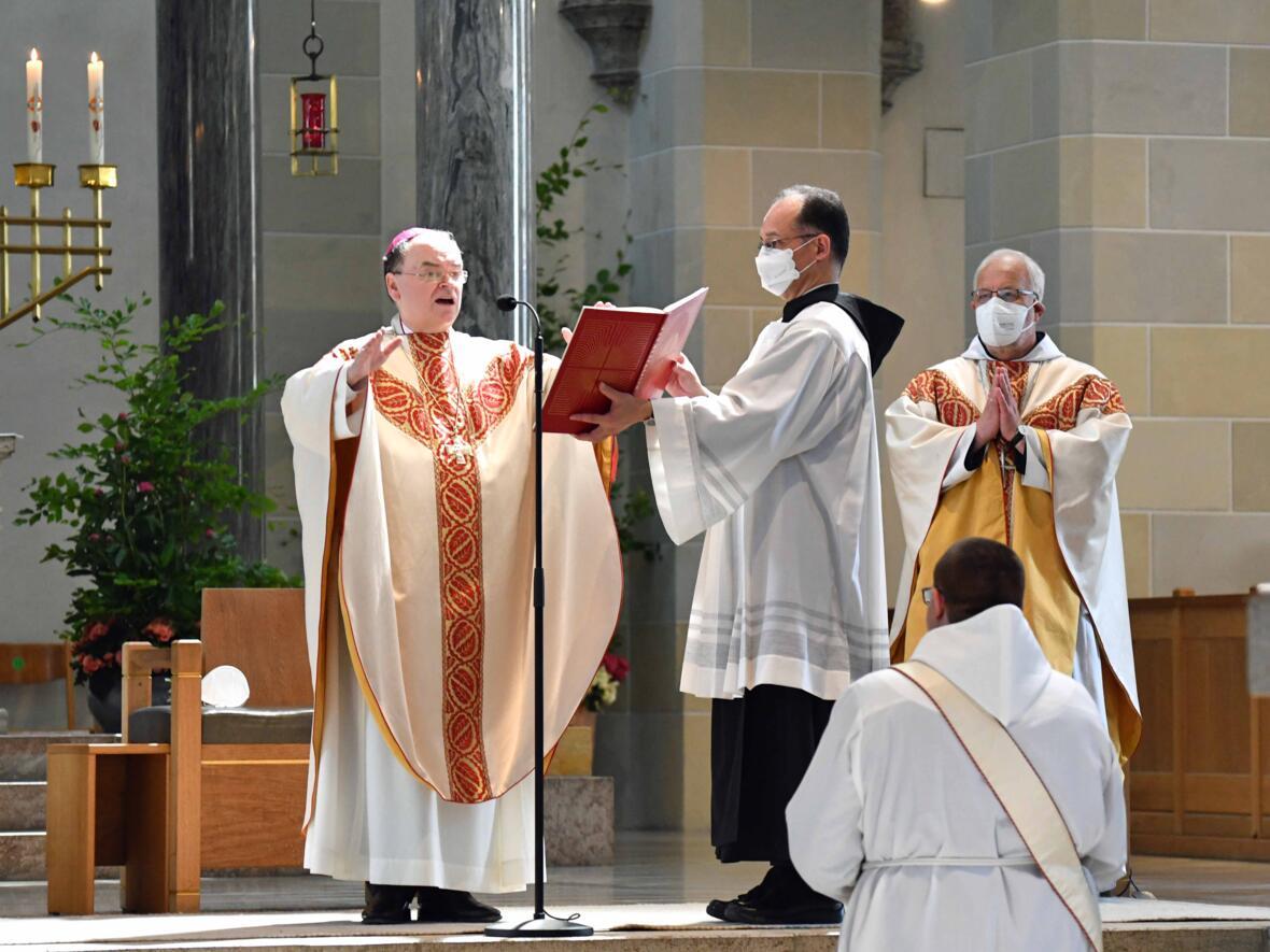10 Priesterweihe von Michael Bäumler OSB in St. Ottilien (Foto Nicolas Schnall_pba)