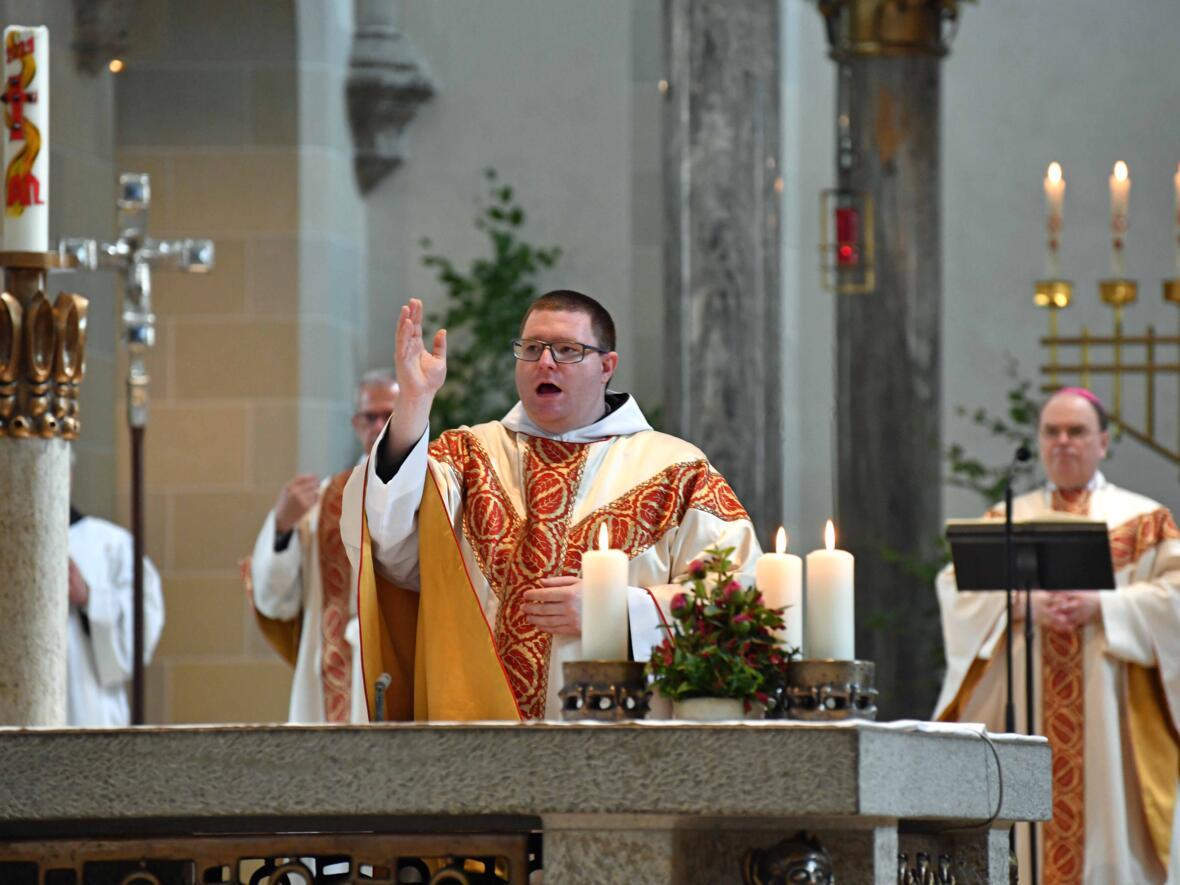 15 Priesterweihe von Michael Bäumler OSB in St. Ottilien (Foto Nicolas Schnall_pba)