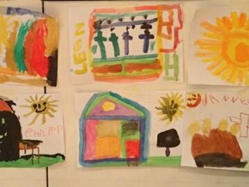 Gottesbilder - gemalt von Kindern