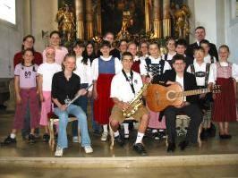 Der Jugendchor vor der Neuorganisation