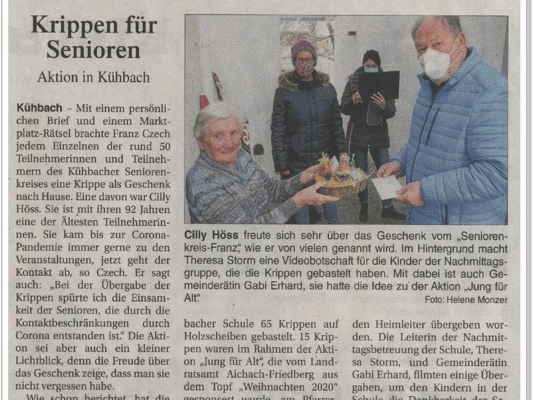 2020_Krippenaktion_Zeitungsbericht_1